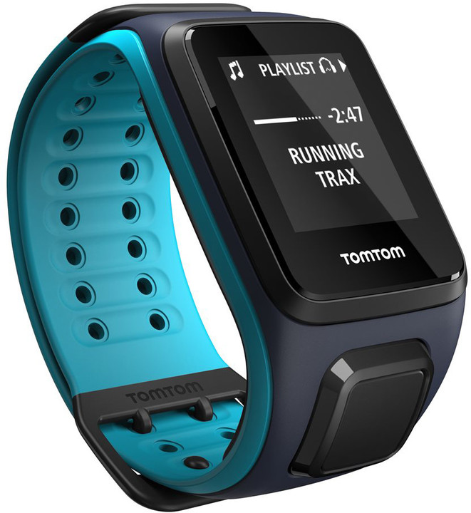 TOMTOM Runner 2 Cardio + Music (velikost L), modrá/modrá
