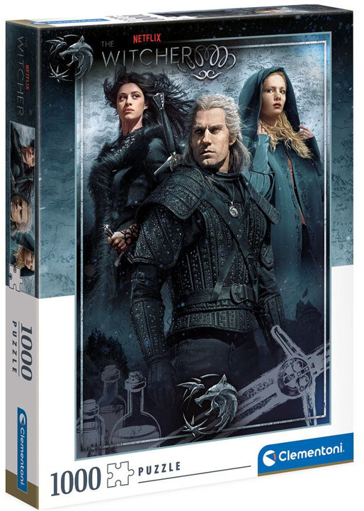 Puzzle The Witcher - Ciri, Yennefer a Geralt