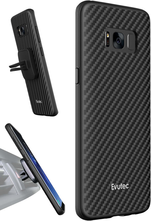 Evutec AER Karbon + AFIX vent mount pro Samsung Galaxy S8+