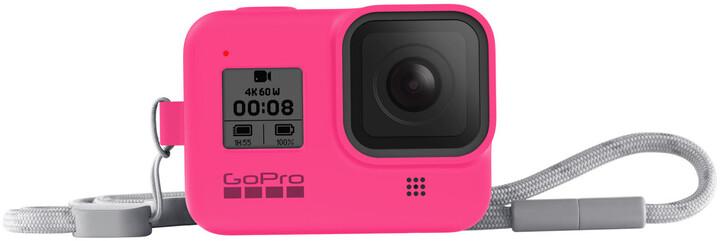 GoPro Sleeve + Lanyard (HERO8 Black) neonově růžový