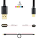 AXAGON BUMM-AM15QG, HQ Kabel Micro USB - USB A, datový a nabíjecí 2A, bílý, 1.5 m