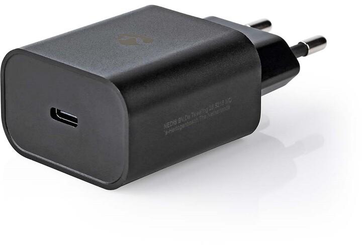 Nedis síťová nabíječka, USB-C, PD, 30W, černá