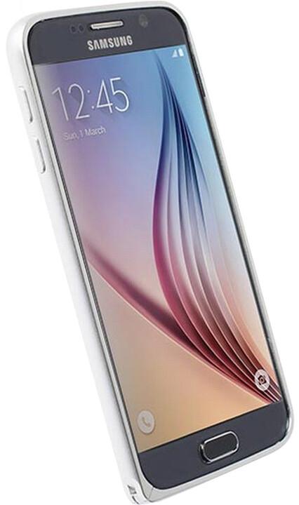 Krusell SALA hliníkový rámeček pro Samsung Galaxy S6, stříbrná