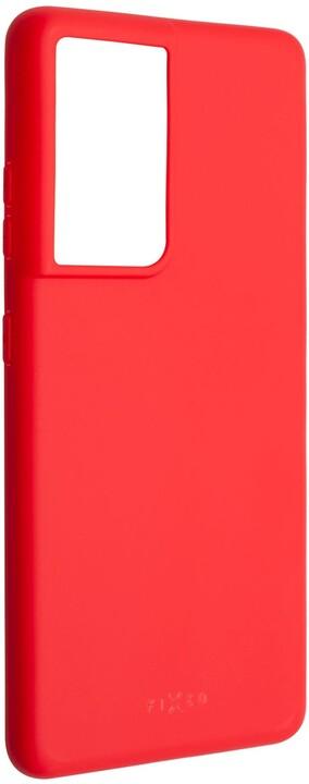 FIXED pogumovaný kryt Story pro Samsung Galaxy S21 Ultra, červená