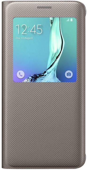 Samsung flipové pouzdro S View pro Galaxy S6 edge+ (SM-G928F), zlatá