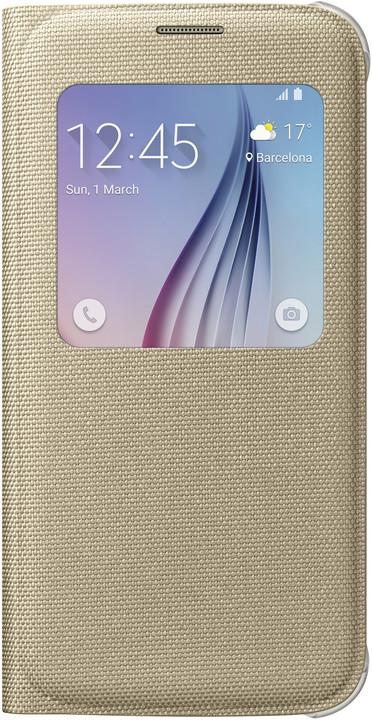 Samsung pouzdro S View EF-CG920B pro Galaxy S6 (G920), zlatá