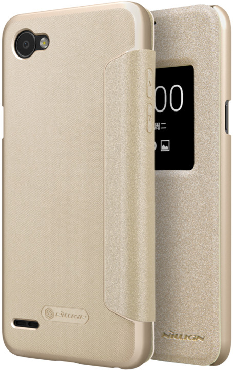 Nillkin Sparkle S-View pouzdro pro LG Q6, Gold