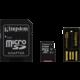 Kingston Micro SDXC 64GB Class 10 + SD adaptér + USB čtečka  + Voucher až na 3 měsíce HBO GO jako dárek (max 1 ks na objednávku)