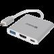 Sandberg Mini USB-C HUB, HDMI+USB, stříbrná  + Voucher až na 3 měsíce HBO GO jako dárek (max 1 ks na objednávku)