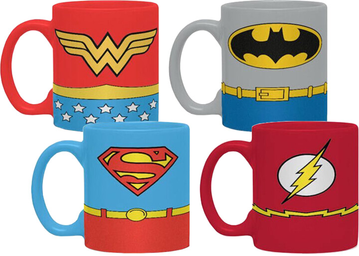 Hrnek DC Comics - Uniforms Espresso Sada - 4 ks