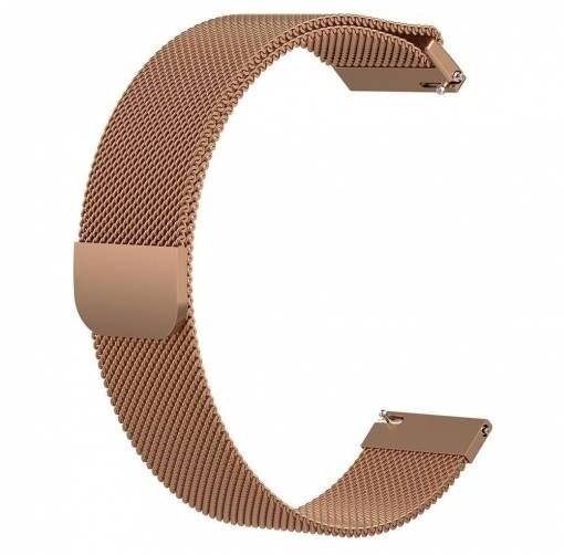 ESES milánský tah pro Samsung watch 42mm/gear sport/watch active/ garmin vivoactive 3, růžovo/zlatá