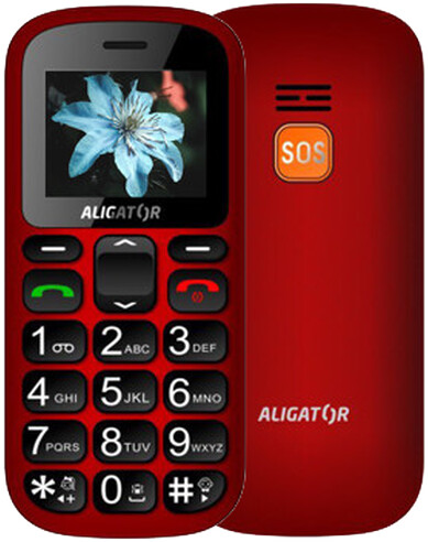 Aligator A321, Red - Black + stolní nabíječka
