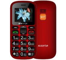 Aligator A321, červeno/černý + stolní nabíječka  + Elektronické předplatné čtiva v hodnotě 4 800 Kč na půl roku zdarma