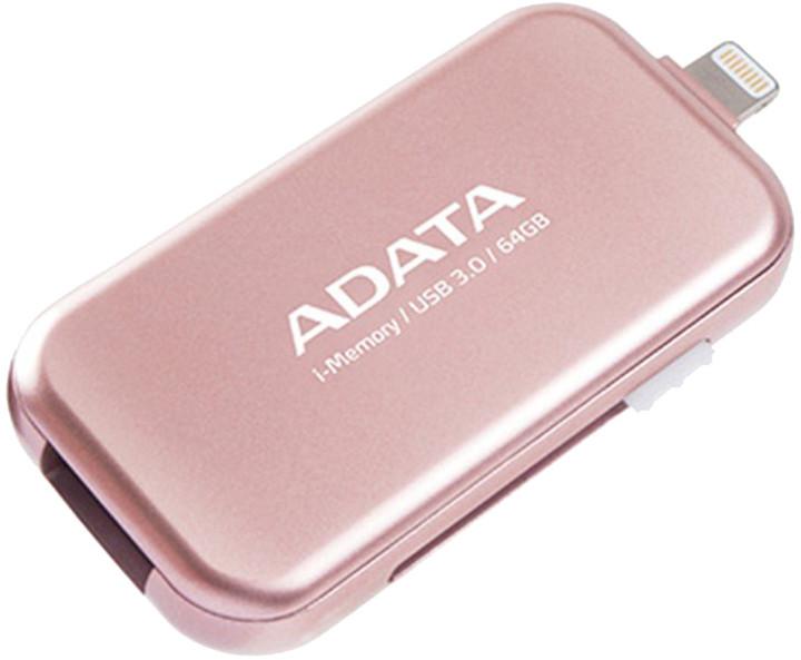ADATA UE710 - 64GB, růžová