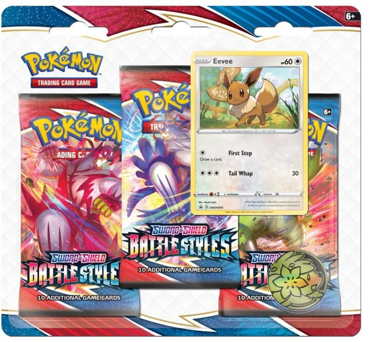Karetní hra Pokémon TCG: Sword and Shield Battle Styles - 3 Booster Pack Eevee