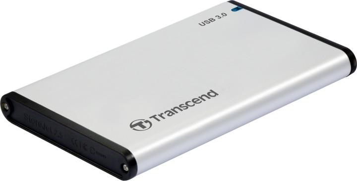 Transcend StoreJet 25S3, stříbrný
