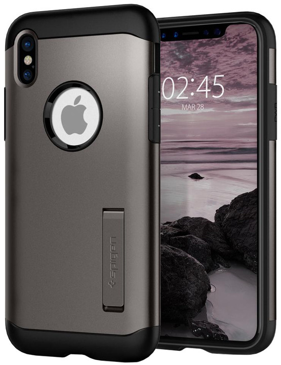 Spigen Slim Armor iPhone X, gunmetal