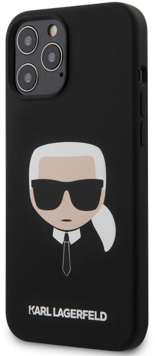 Karl Lagerfeld silikonový kryt Head pro iPhone 12 Pro Max, černá