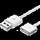 WSKEN Lightning magnetický nabíjecí/datový kabel, samotný kabel bez koncovky, 1m, kov/pl