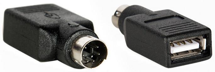 AQ KA601 - USB A samice - PS/2 samec