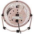 NEDIS mini ventilátor, stolní, USB, růžová