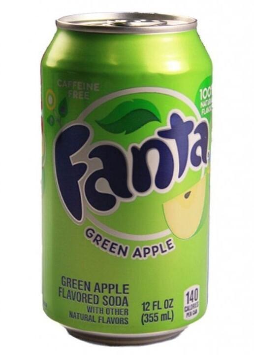 Fanta Green Apple, limonáda, jablko, 355 ml