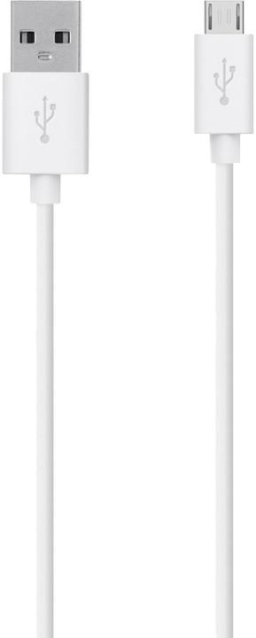 Belkin Mixit USB/microB, 2m, bílá