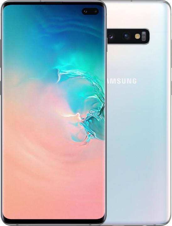 Samsung Galaxy S10+, 8GB/128GB, bílá
