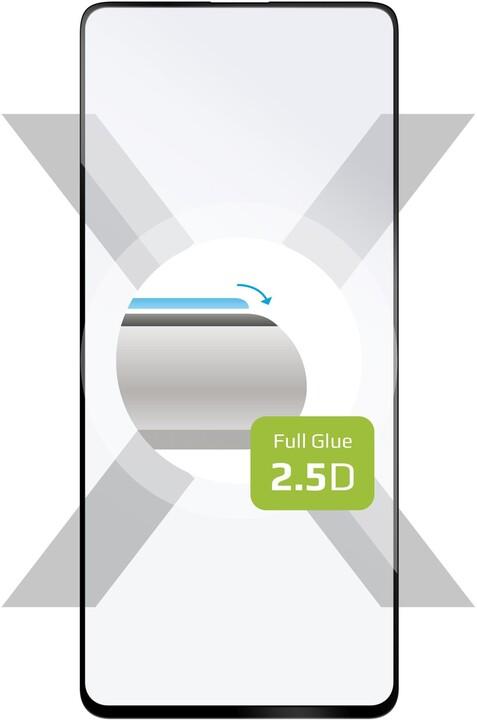FIXED ochranné tvrzené sklo pro Samsung Galaxy A72, Full-Cover, černá