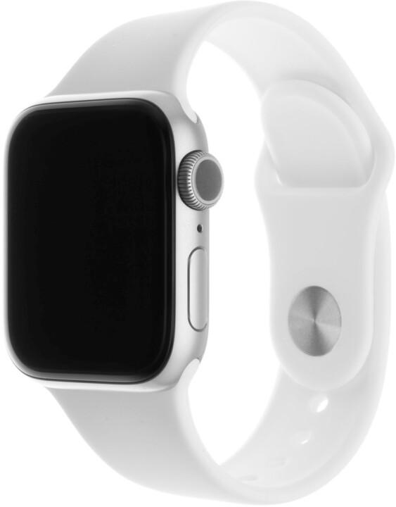 FIXED silikonový řemínek pro Apple Watch, 38/40mm, bílá