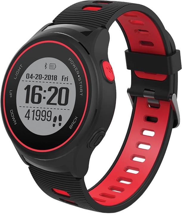 Forever chytré hodinky SW-600, černočervená