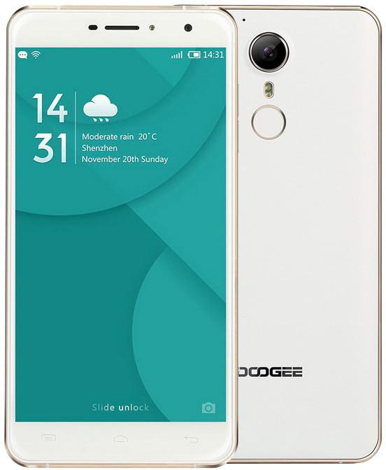 DOOGEE F7 Pro - 32GB, zlatá/bílá