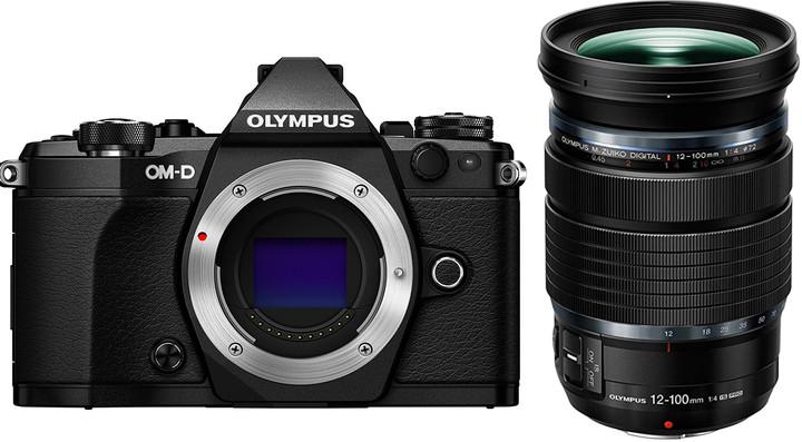 Olympus E-M5 Mark II + 12-100mm IS PRO, černá/černá