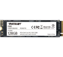 Patriot P300, M.2 - 128GB O2 TV Sport Pack na 3 měsíce (max. 1x na objednávku)