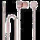 Forever MSE-200 přenosná stereo sluchátka (TFO-N) 3,5mm Jack s mikrofónem, růžově zlatá