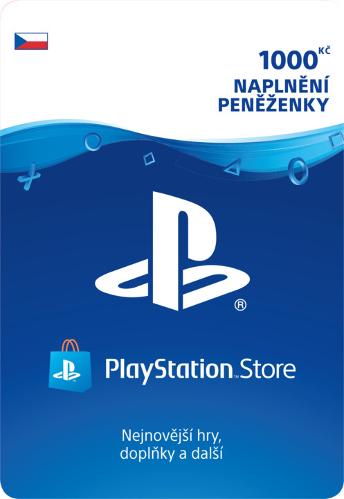 PlayStation Store naplnění peněženky 1000 Kč - elektronicky