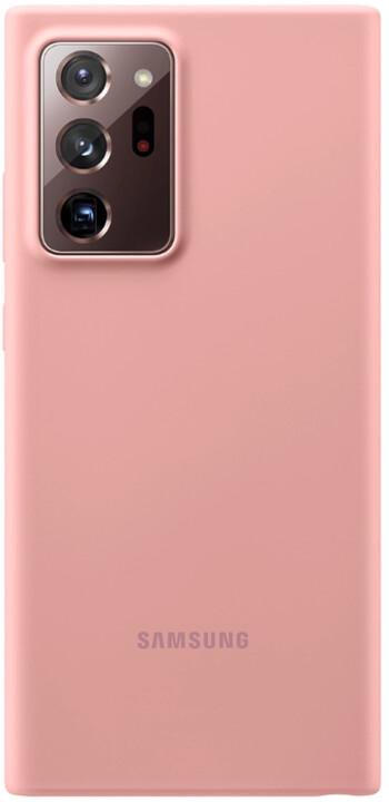 Samsung silikonový kryt Samsung Galaxy Note20 Ultra, hnědá