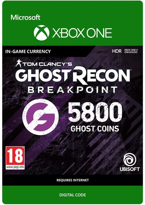 Tom Clancy's Ghost Recon: Breakpoint - 5800 Ghost Points (Xbox ONE) - elektronicky