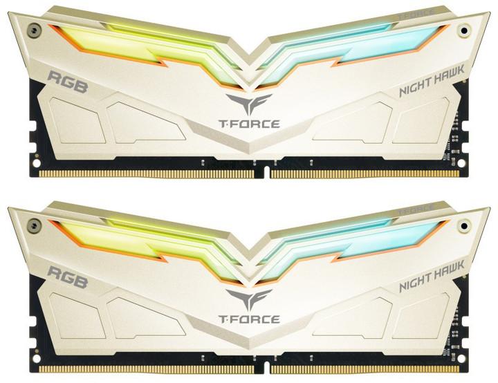Team T-FORCE Night Hawk Legend RGB 16GB (2x8GB) DDR4 3200 CL14 sparkling gold