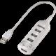 Hama USB 2.0 HUB 1:4, bílá