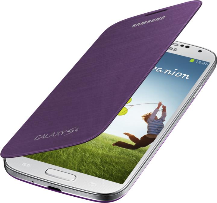 Samsung flipové pouzdro EF-FI950BV pro Galaxy S 4 (i9505), purpurová
