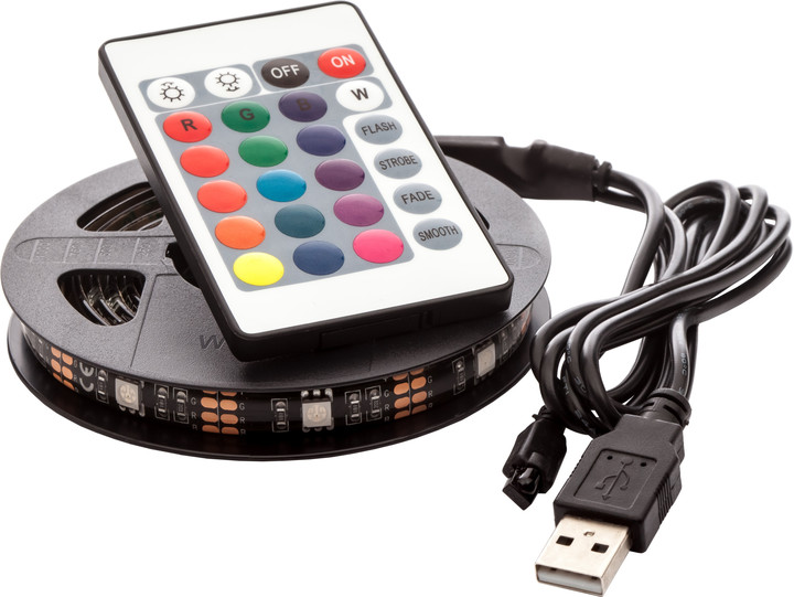 OPTY USB LED pás 150cm, RGB, dálkový ovladač