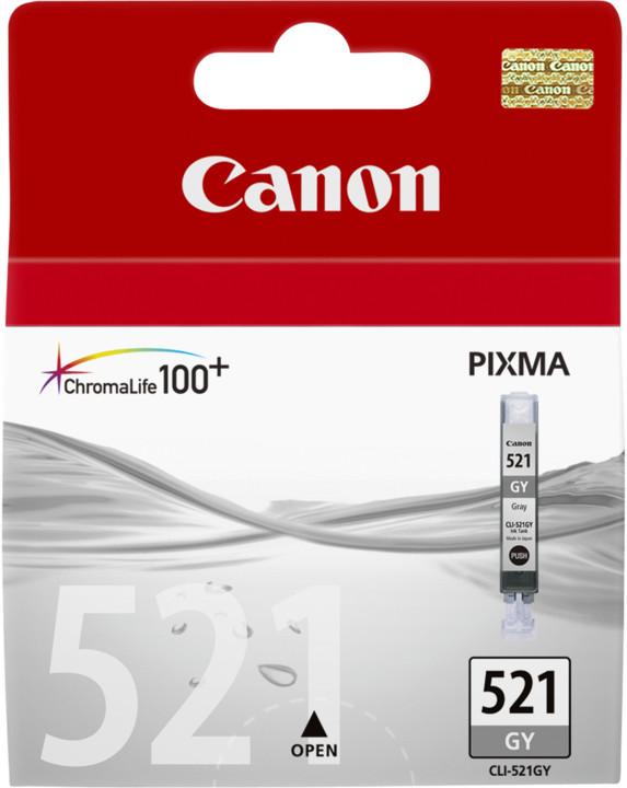Canon CLI-521 GY, šedá