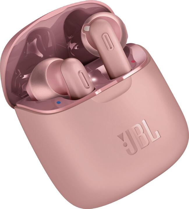 JBL Tune 220TWS, růžová