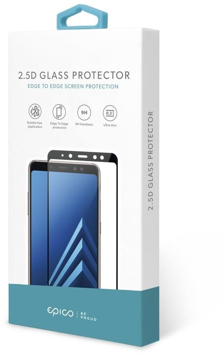 EPICO tvrzené sklo pro Samsung Galaxy A02s 2.5D, 0.3mm, černá