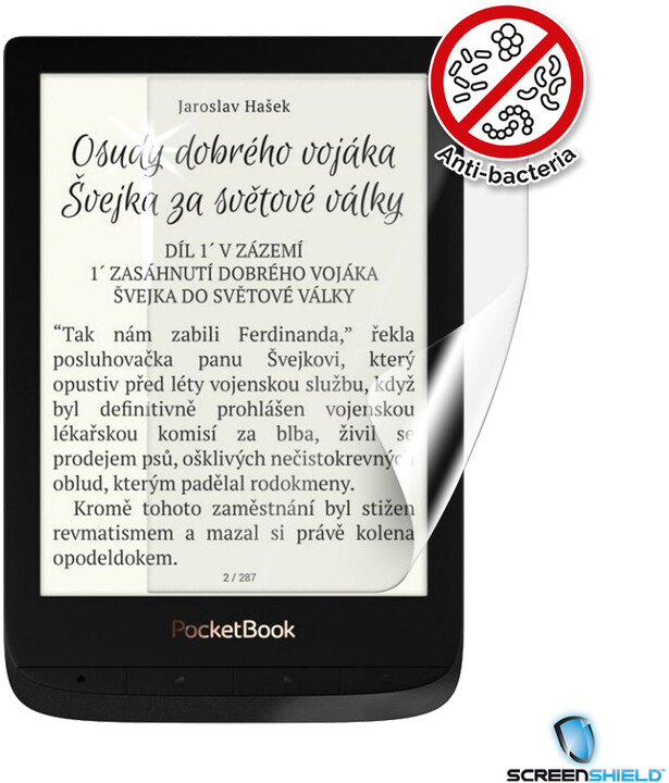 Screenshield ochranná fólie Anti-Bacteria pro PocketBook 627 Touch Lux 4