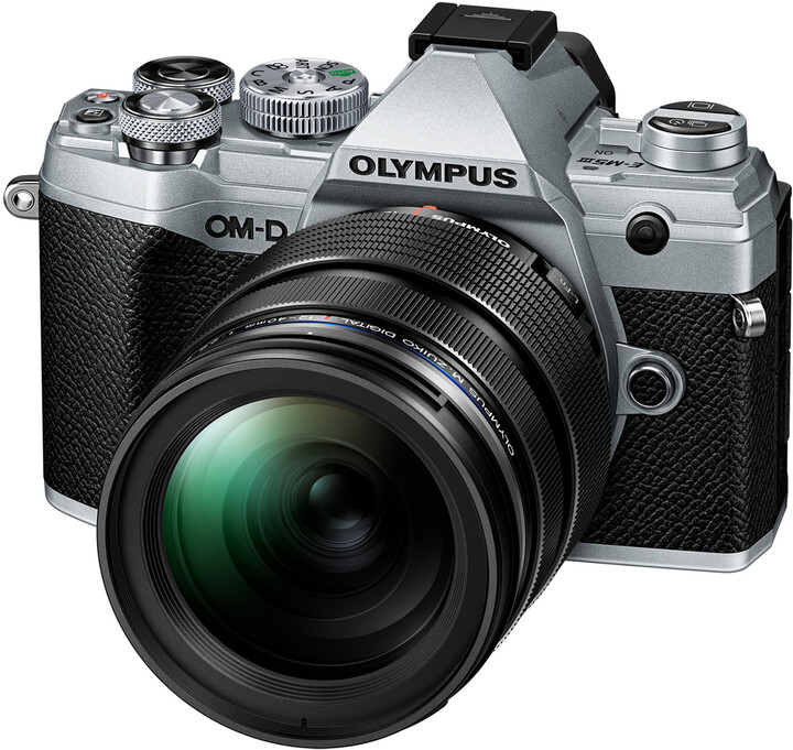 Olympus E-M5 Mark III + 12-40mm PRO, stříbrná/černá