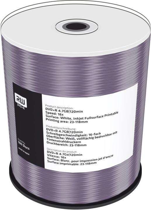 MediaRange DVD+R 4,7GB 16x, Printable, Spindle 100ks
