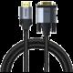 BASEUS kabel Cafule Series, HDMI - VGA, 1080p, pozlacené kontakty, opletený, 1m, černá