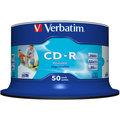 Verbatim CDR 52x 80 minut spindl inkjet printable Non ID Branded 50ks